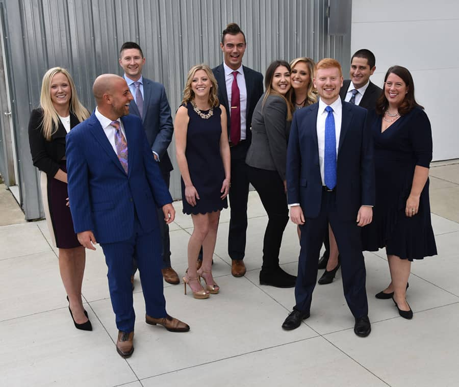 Group photo of Abood Law attorneys and staff.