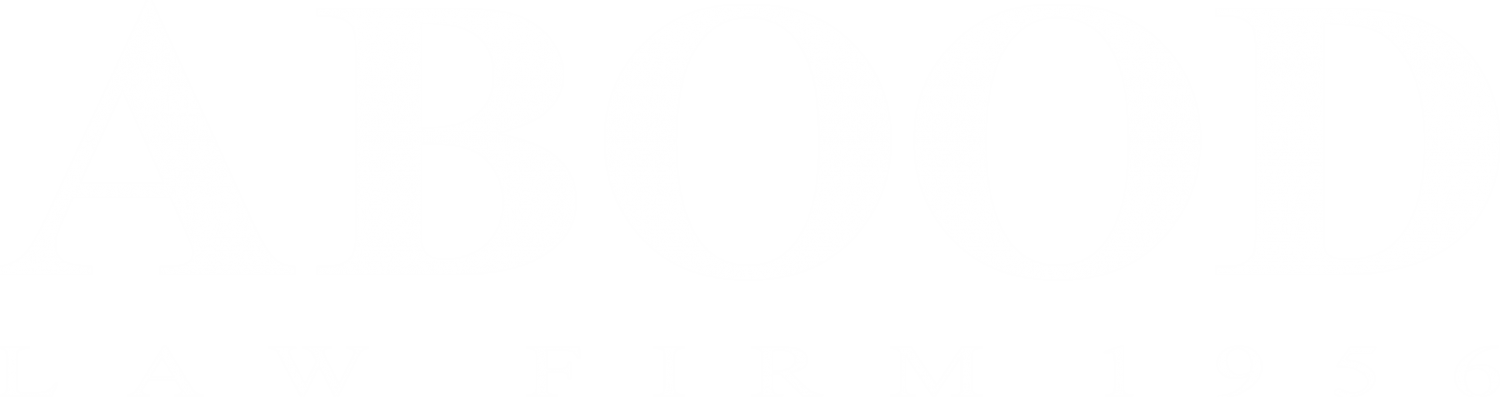 Abood Law Firm Logo in white