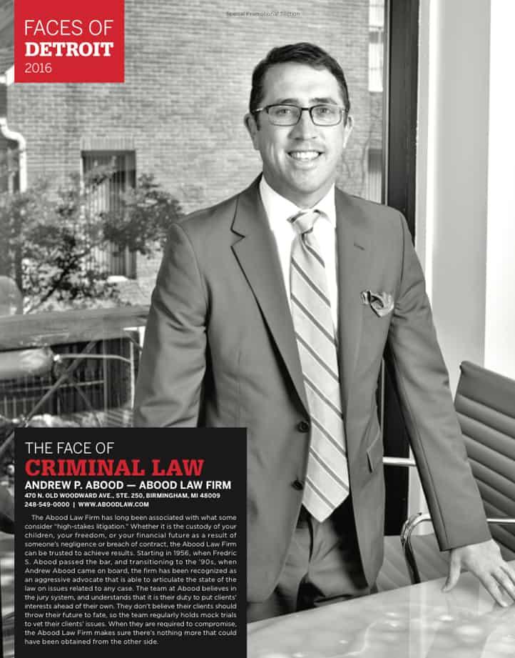Andrew Abood in Hour Detroit magazine