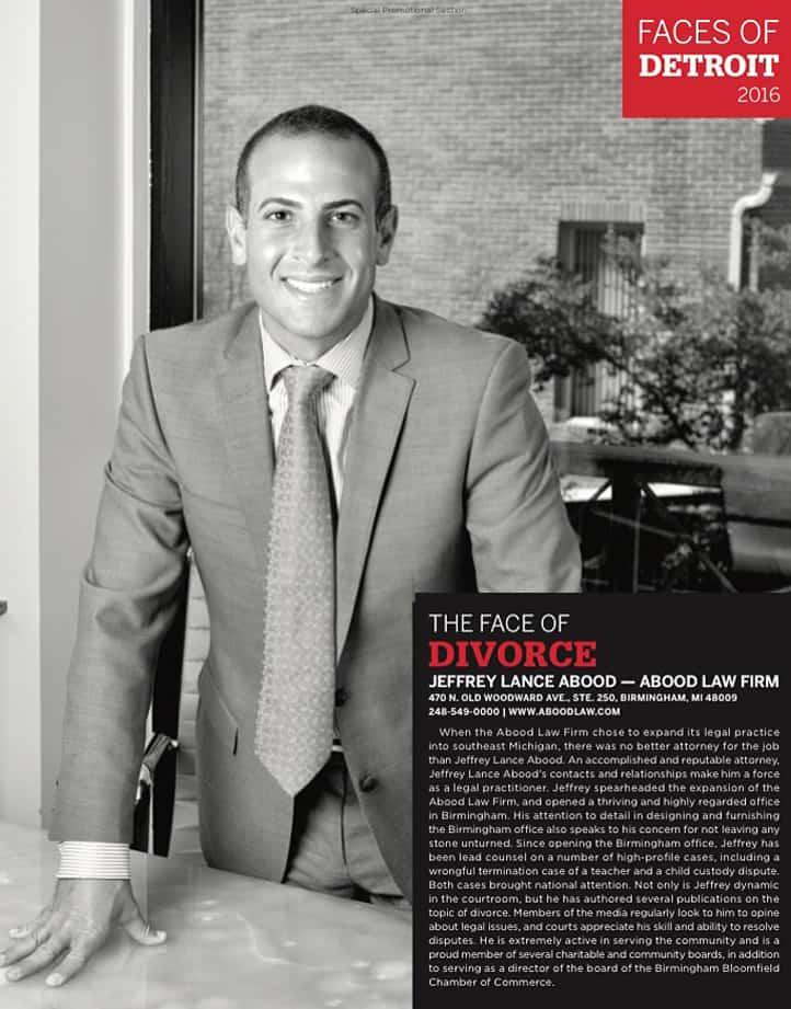Jeffrey L. Abood in Hour Detroit magazine
