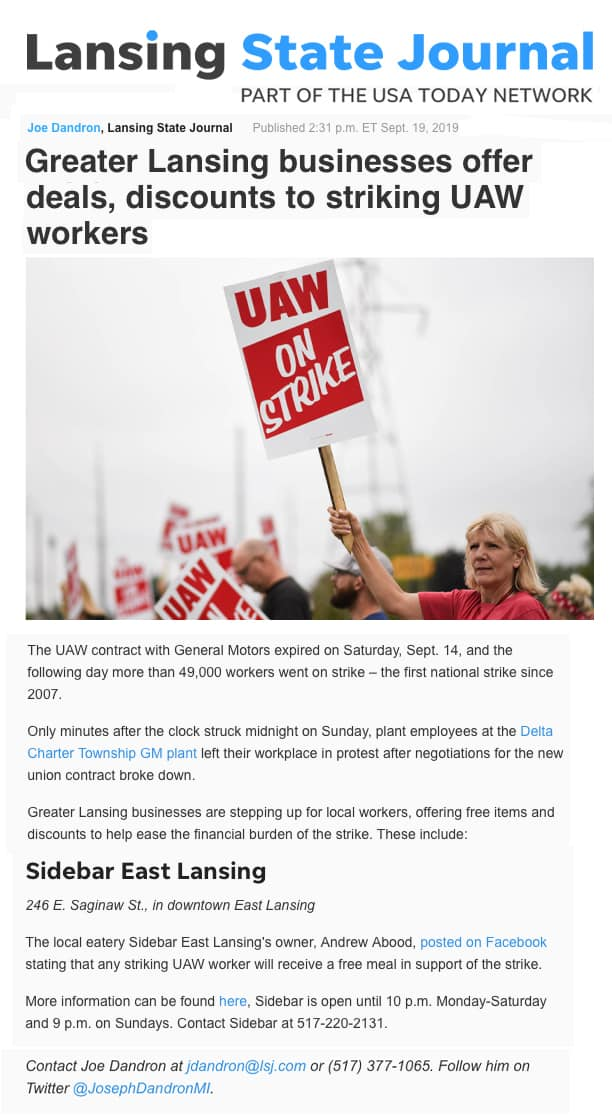 Abood Law supports UAW strikers
