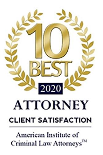 10 Best Attorney Client Satisfaction 2020 award
